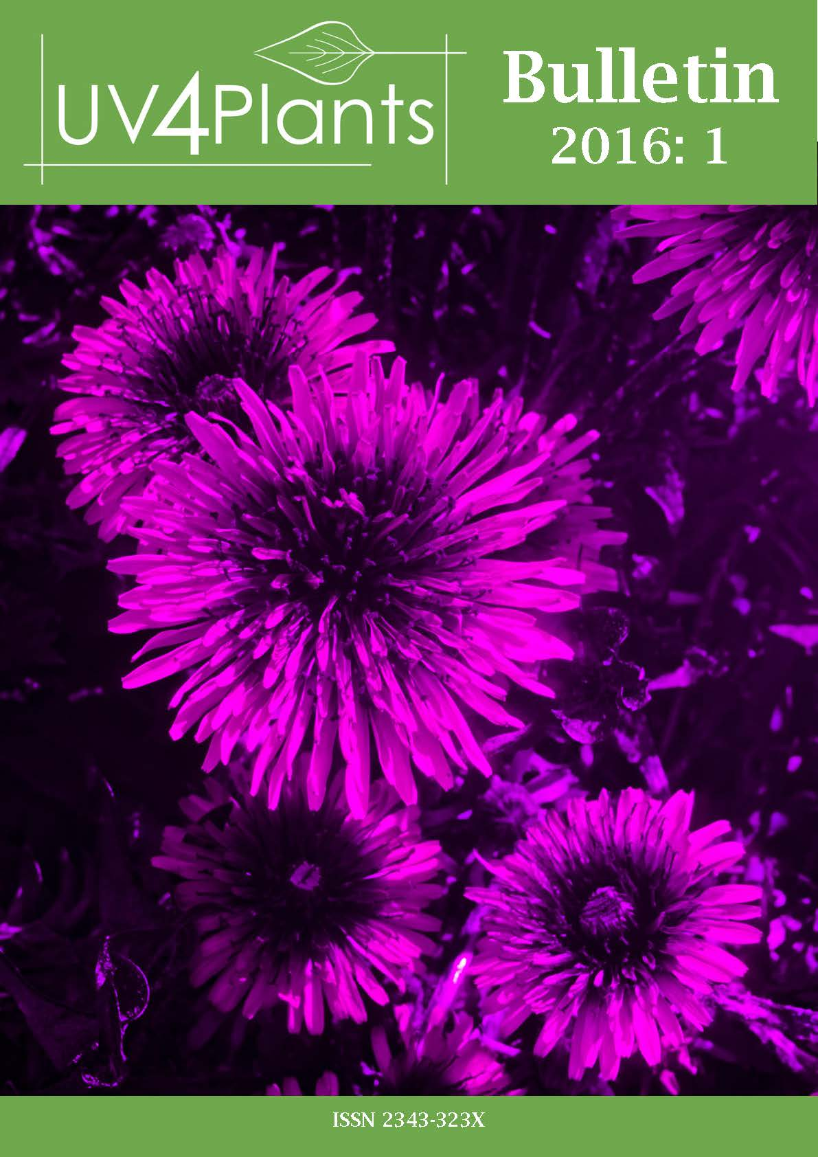 Cover of the UV4Plants Bulletin 2016:1