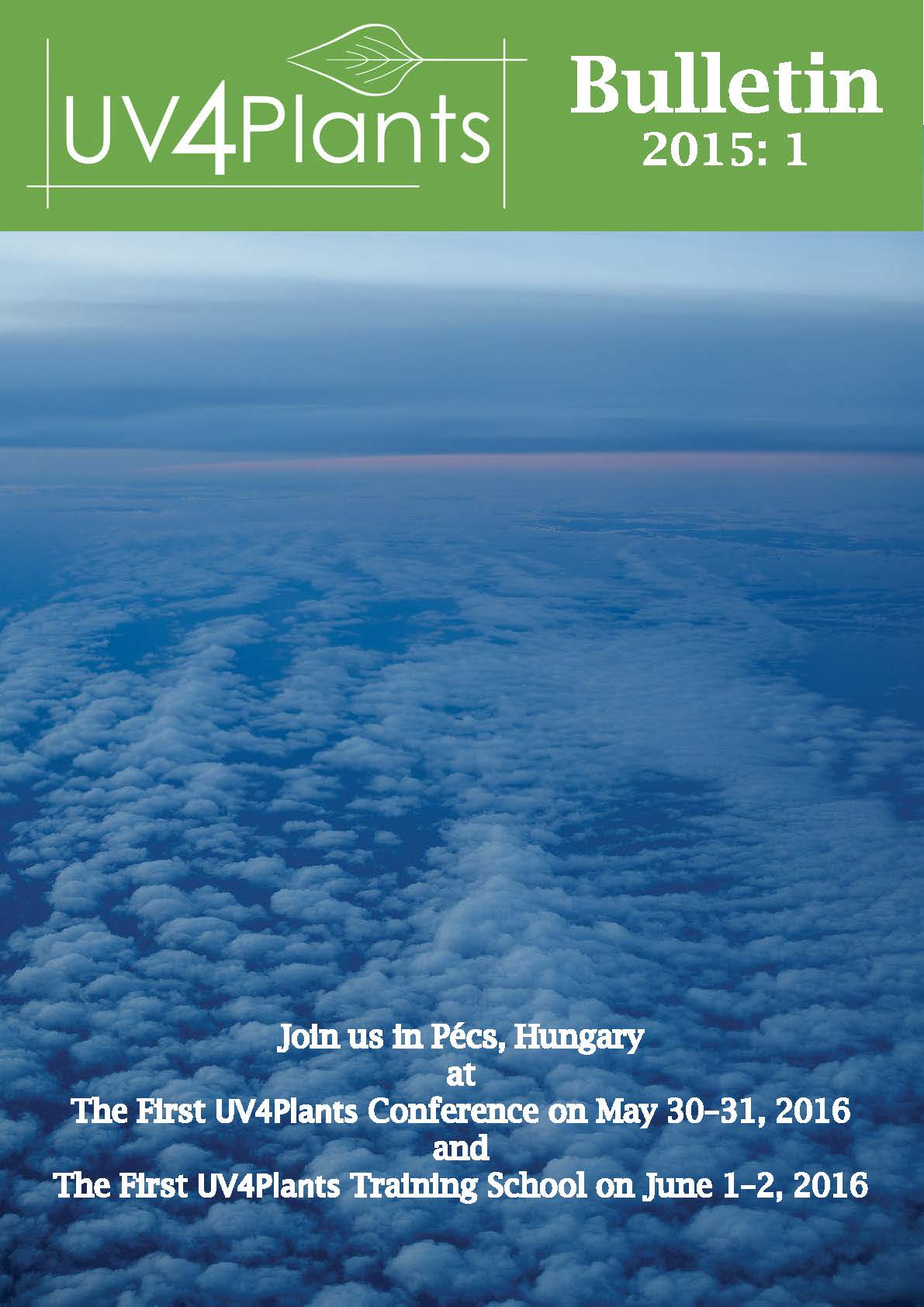 Cover of the UV4Plants Bulletin 2015:1