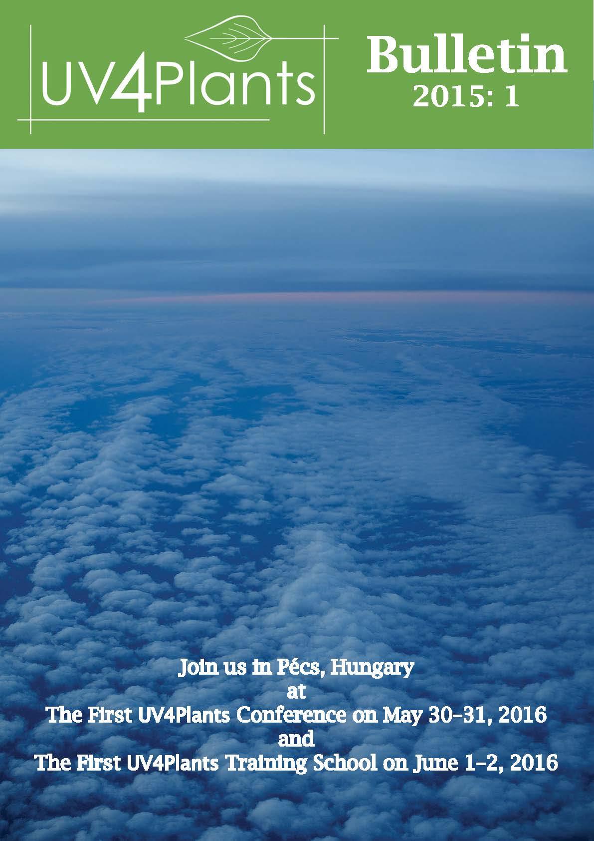 Cover of the UV4Plants Bulletin 2015:1